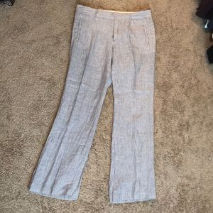 Linen striped trouser